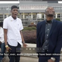 Joseph Edoki and Emmanuel Ezekiel - One Minute Skit for Pidgin Audio Bible