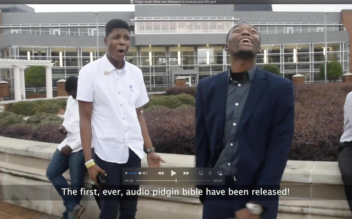 Joseph Edoki and Emmanuel Ezekiel – One Minute Skit for Pidgin Audio Bible