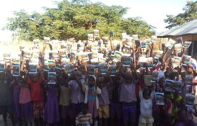 Leviticus Makpa during book donation for our primary school