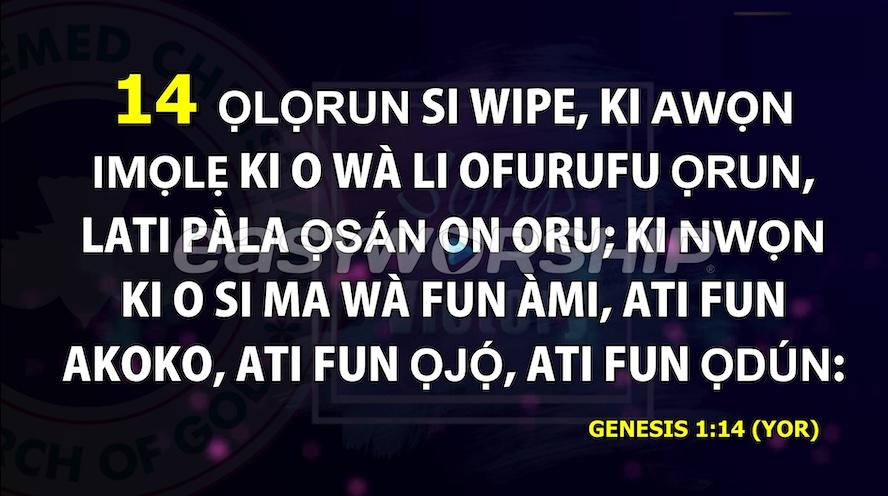 Yoruba Bible is now available on EasyWorship